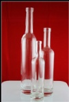 750ml clear glass wine bottle
