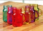 Colorful Glass Mason Jar